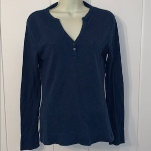 The North Face blue long sleeved T-shirt